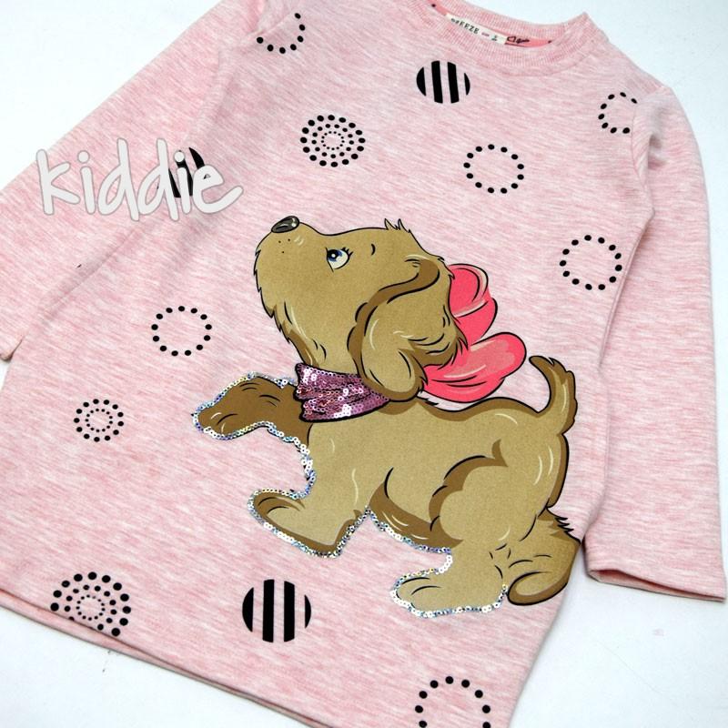 Детска рокля Breeze Куче с шал от пайети