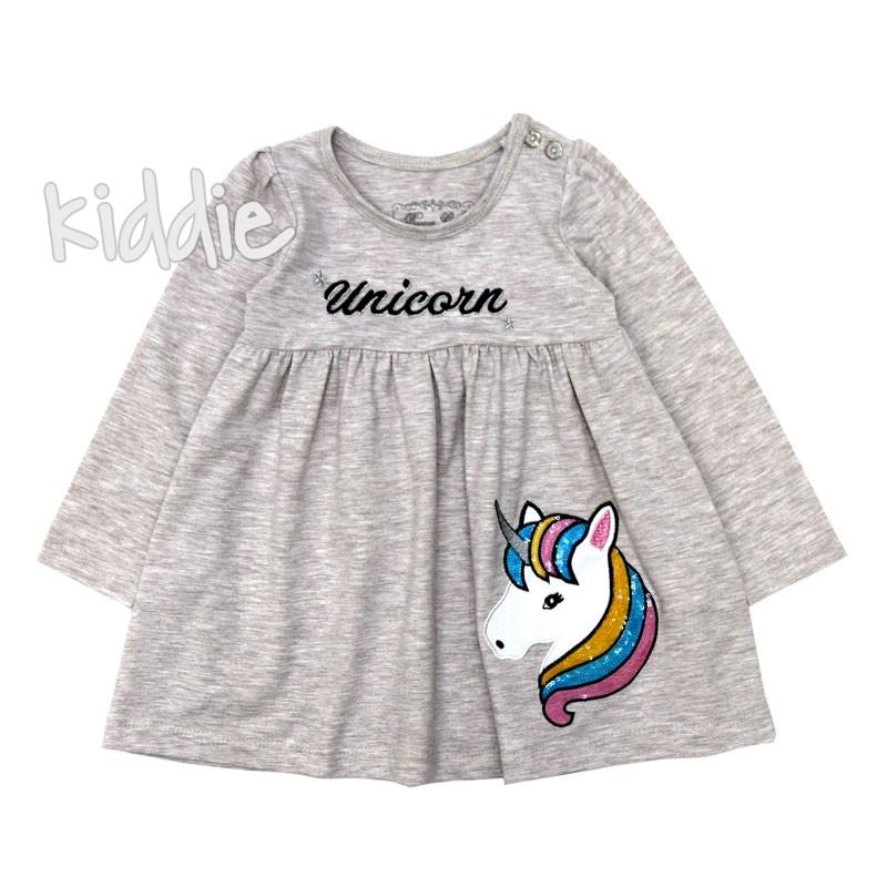 Детска рокля Еднорог  с пайети Breeze