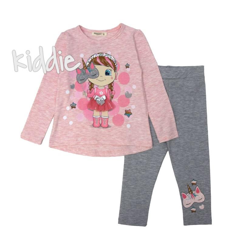 Детски комплект Breeze за момиче с ефектна щампа