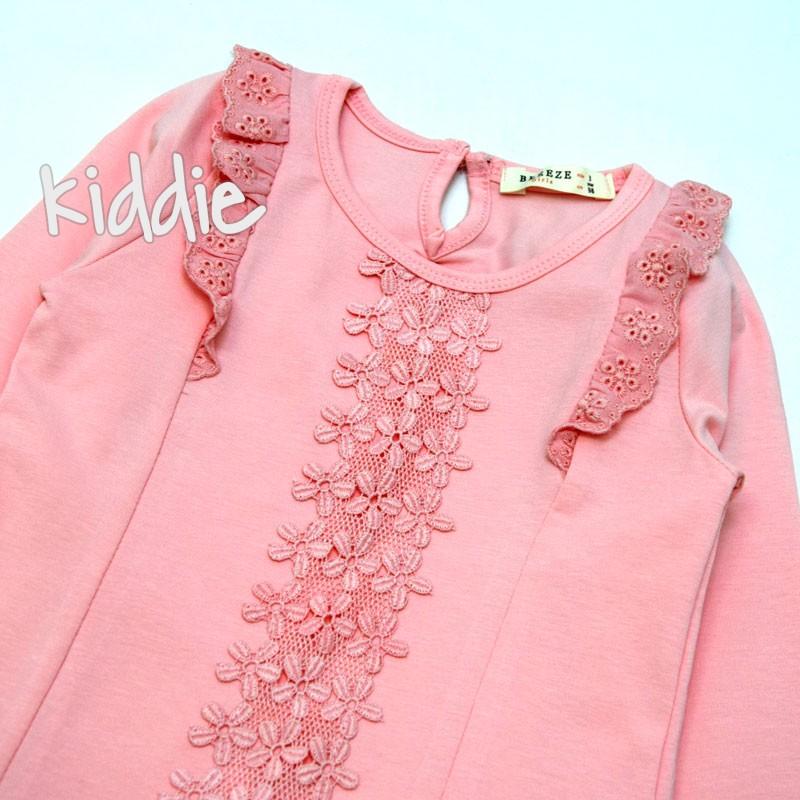 Детска блуза с дантела Breeze за момиче
