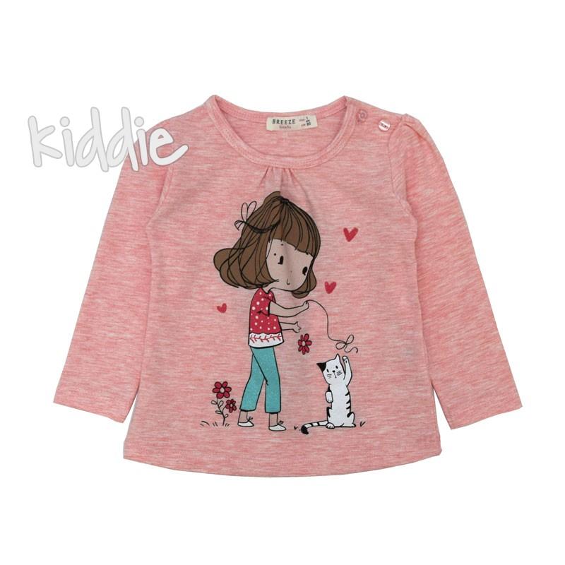 Детска блуза Breeze за момиче с коте