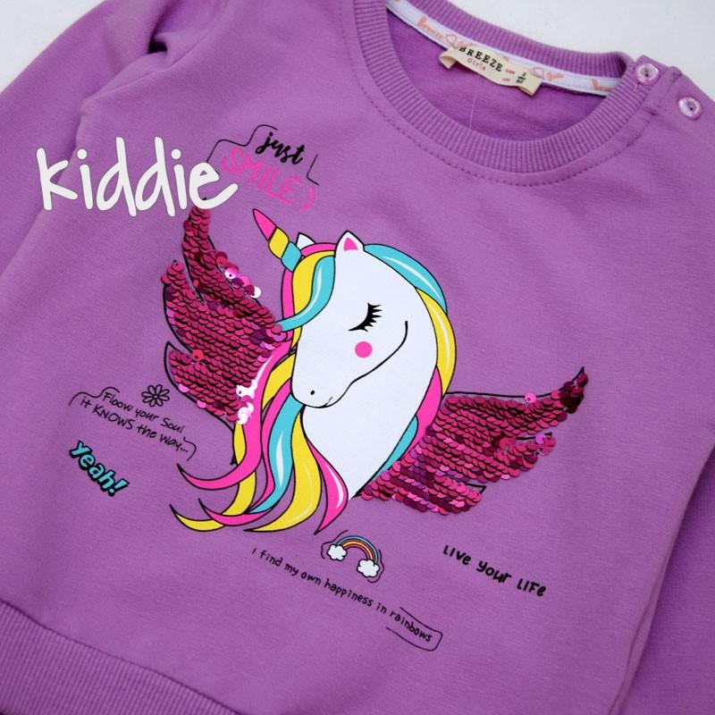 Детска блуза Еднорог Breeze за момиче с декорация