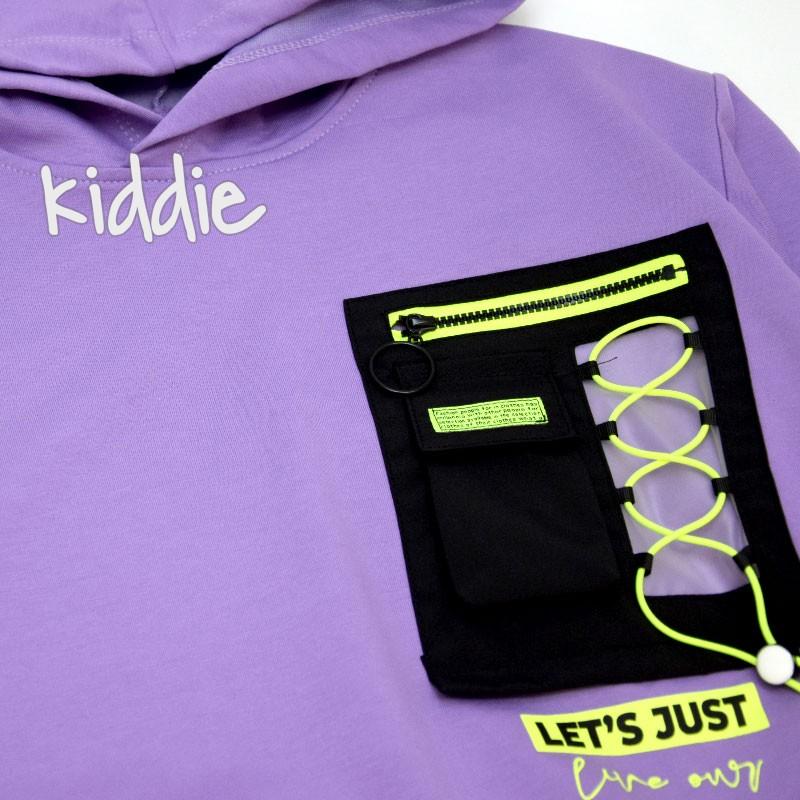 Детска блуза за момиче с качулка Loco Loco