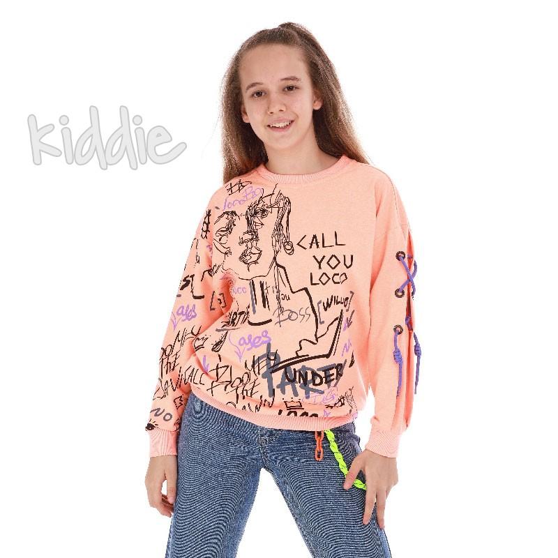 Детска блуза с дълъг ръкав за момиче Loco Loco