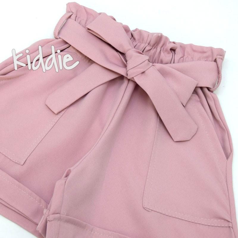 Детски къси панталони за момиче с висока талия