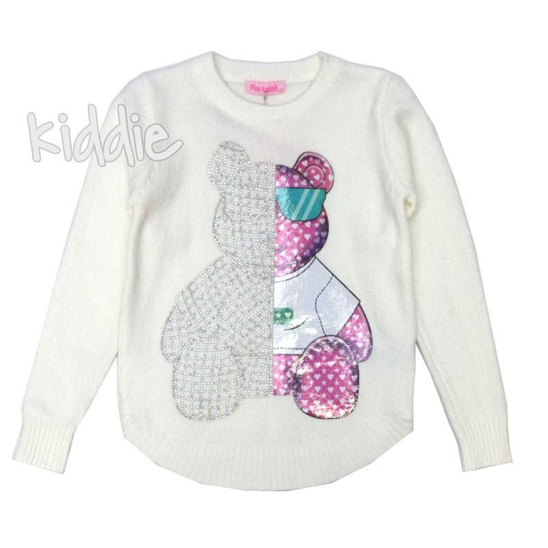 Детска плетена блуза Pink Rabbit за момиче