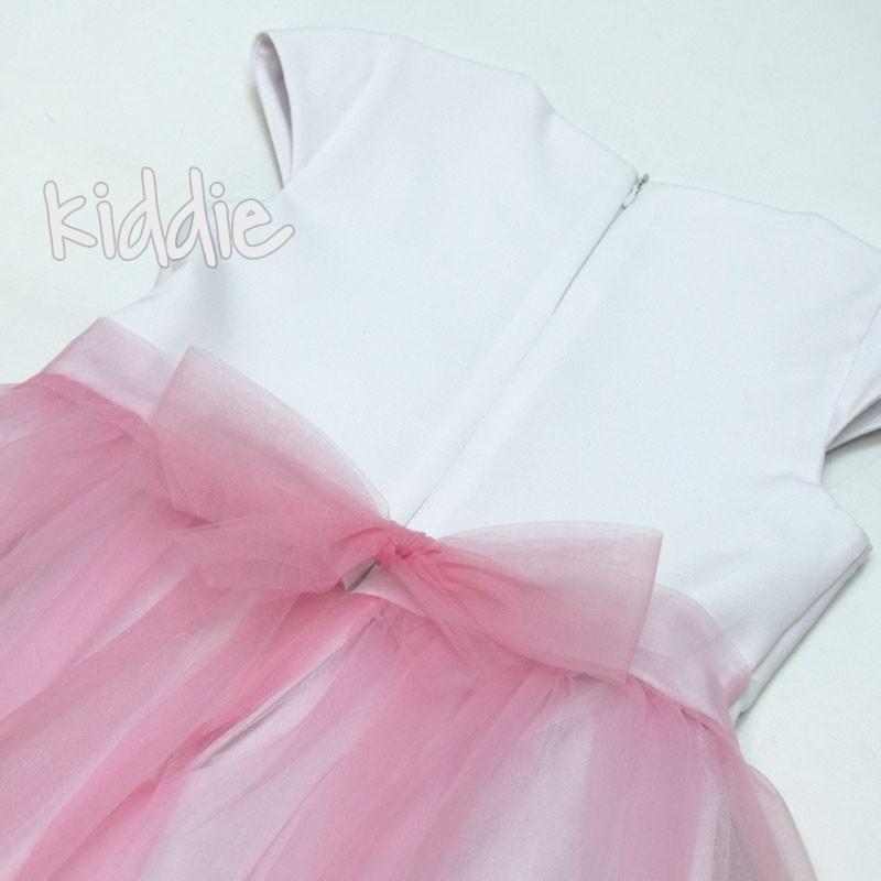 Детска рокля Kim kids с тюл и принт