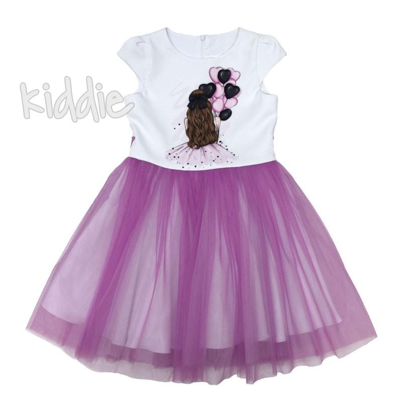 Детска рокля Kim kids Момиче с балони