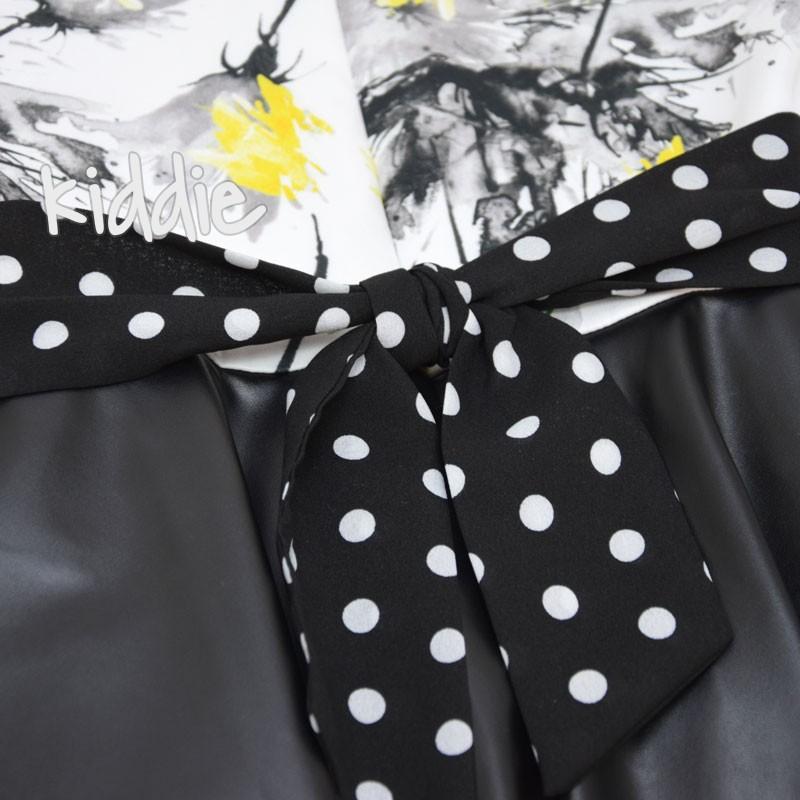 Детска рокля Kim Kids с кожена пола