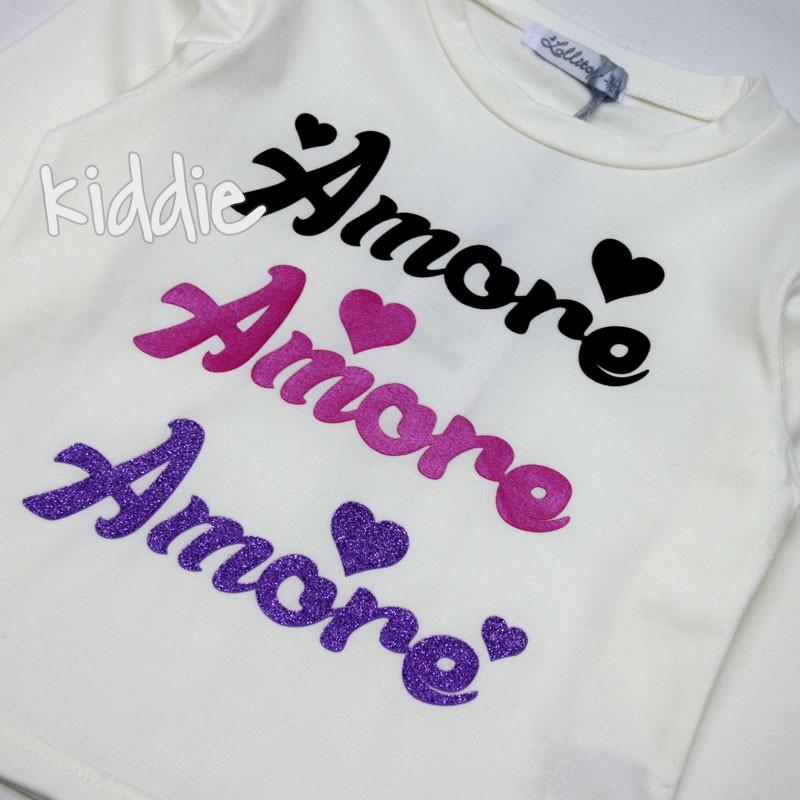 Детска блуза Amore Lollitop за момиче