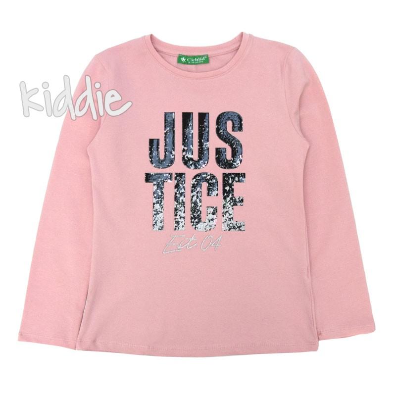 Детска блуза JusTige Cichlid за момиче