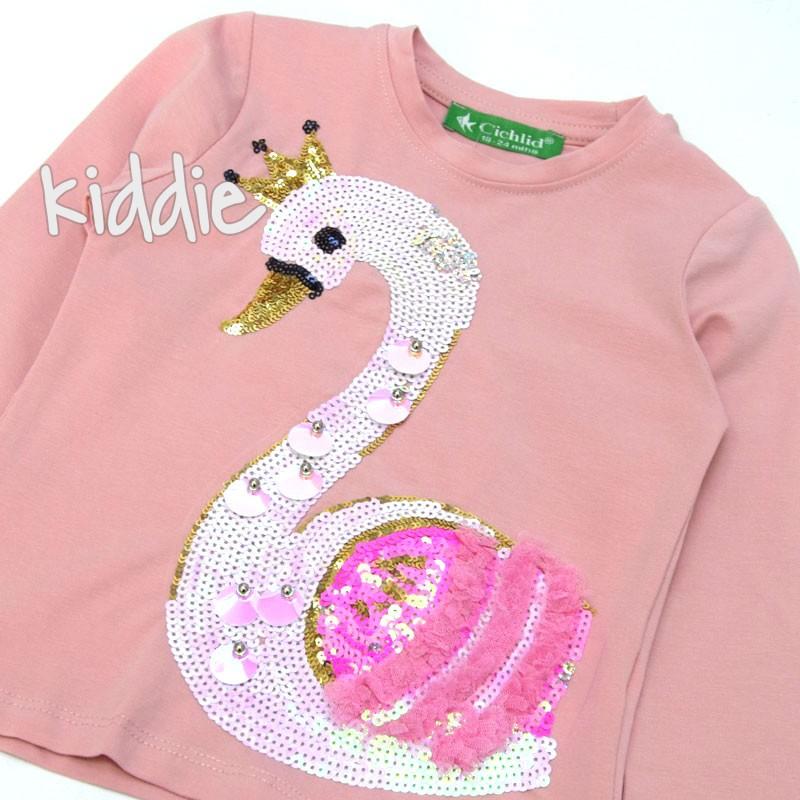 Детска блуза Лебед Cichlid за момиче