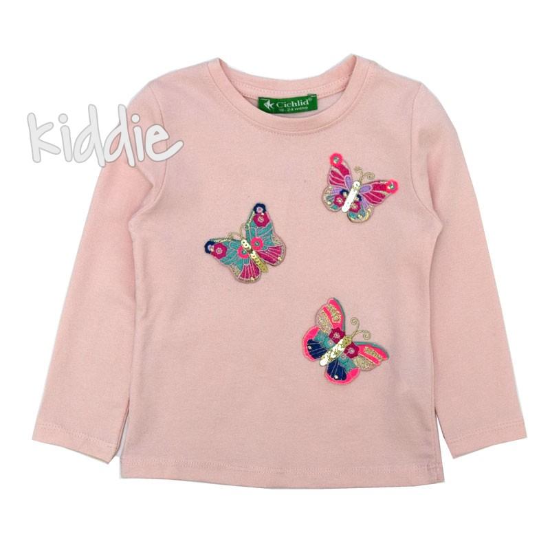 Детска блуза Пеперуди Cichlid за момиче