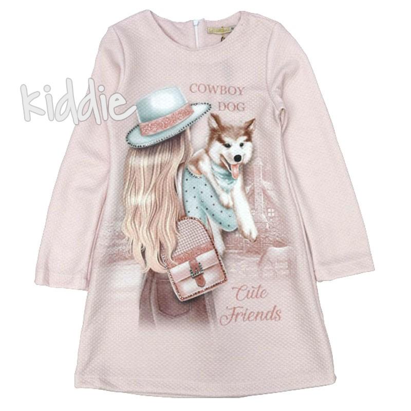 Детска рокля с дълъг ръкав Moonstar