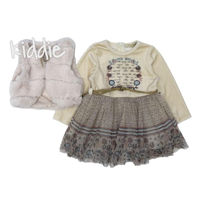 Детска рокля Moonstar с пухкав елек