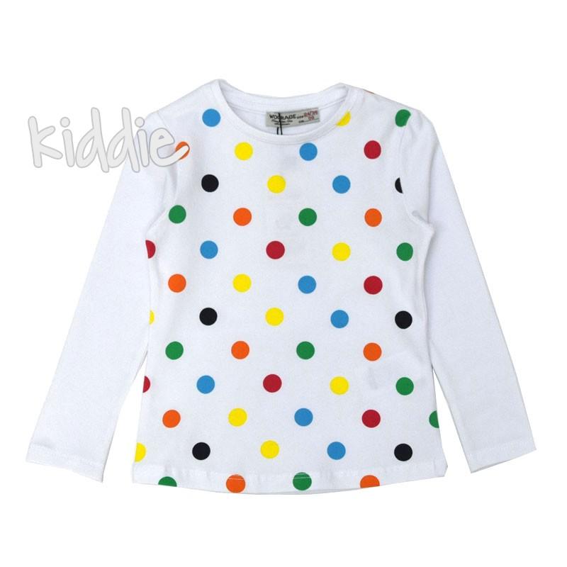 Детска блуза Woorage за момиче на точки