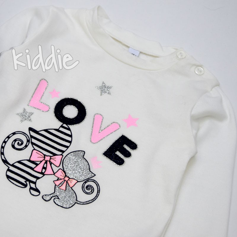 Детски комплект Love с котета Karino Kids за момиче