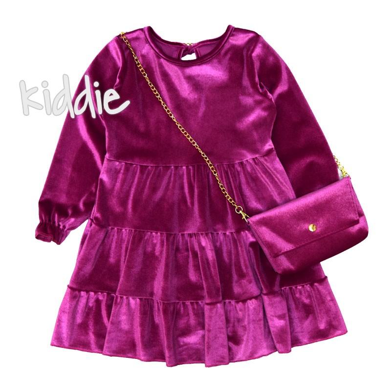 Нежна детска рокля с чанта