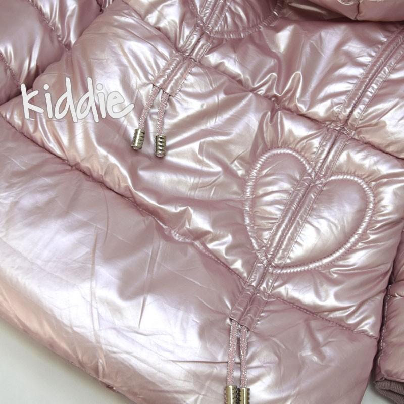 Детско издължено яке за момиче с качулка