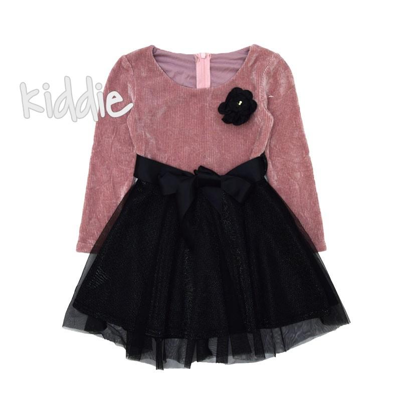 Детска рокля с аксесоар и рипс
