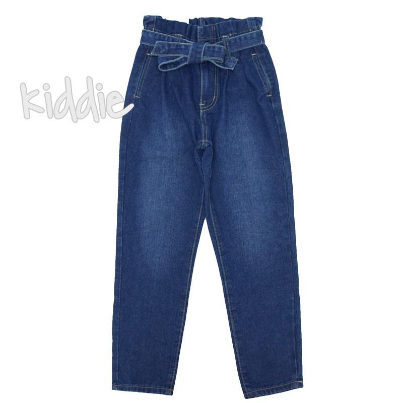 Детски дънки JOY за момиче с висока талия и джобове