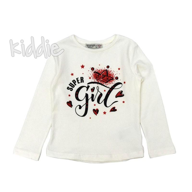 Детска блуза Super Girl Woorage за момиче