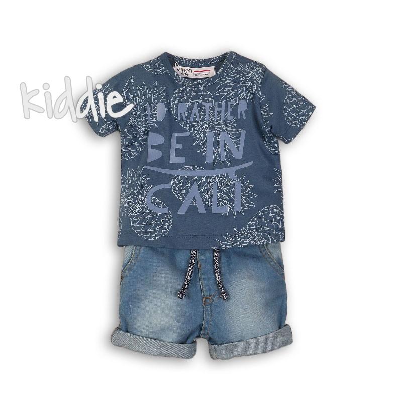 Бебешки комплект Babaluno с къси панталони за момче