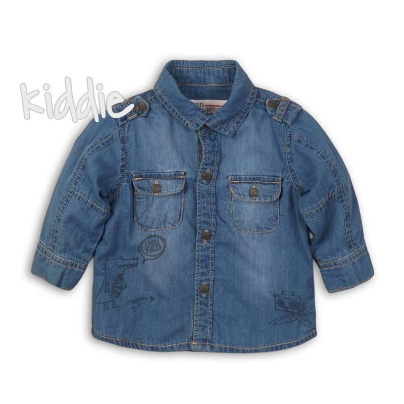 Бебешка дънкова риза Babaluno за момче