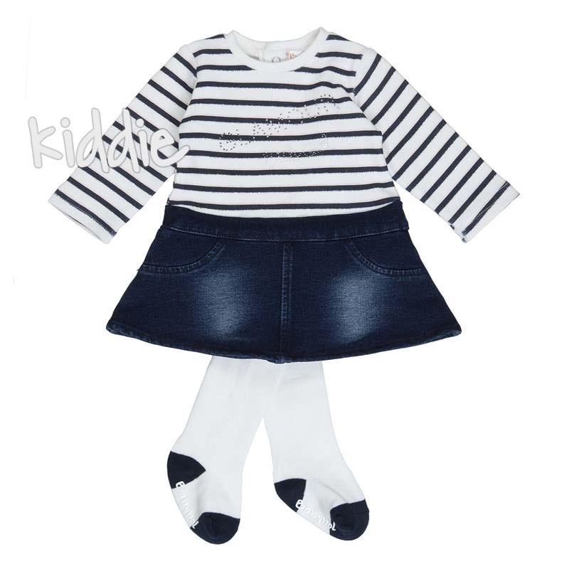 Бебешка рокля Babybol Glamour с чорапогащник