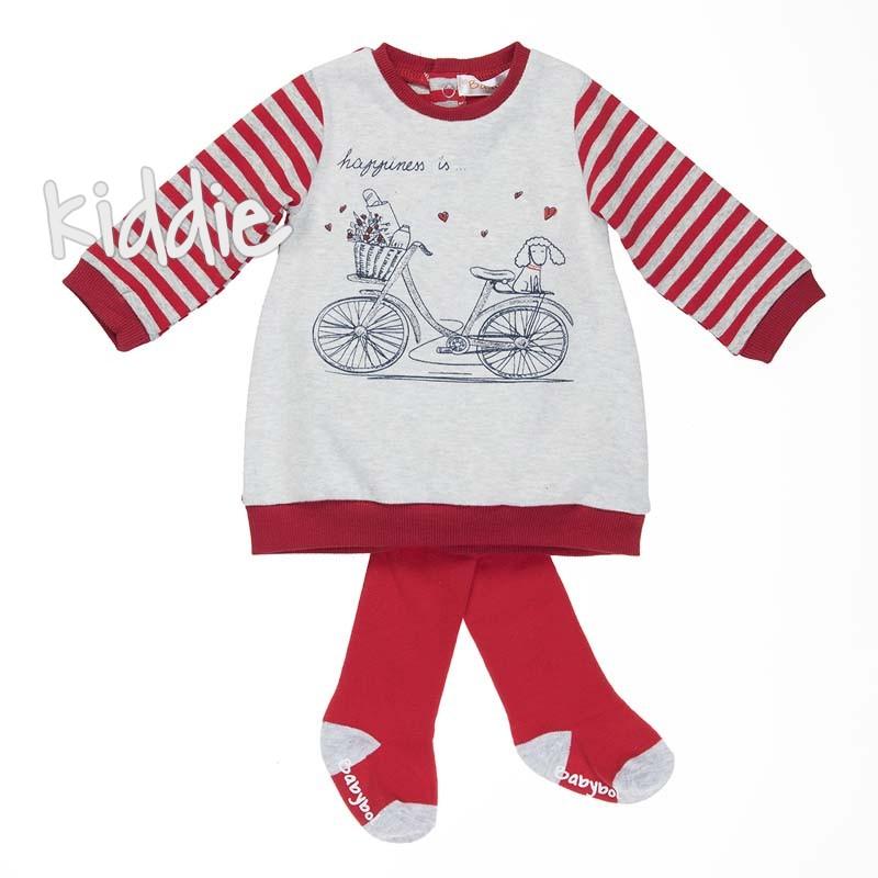 Бебешка рокля Babybol Happiness с чорапогащник