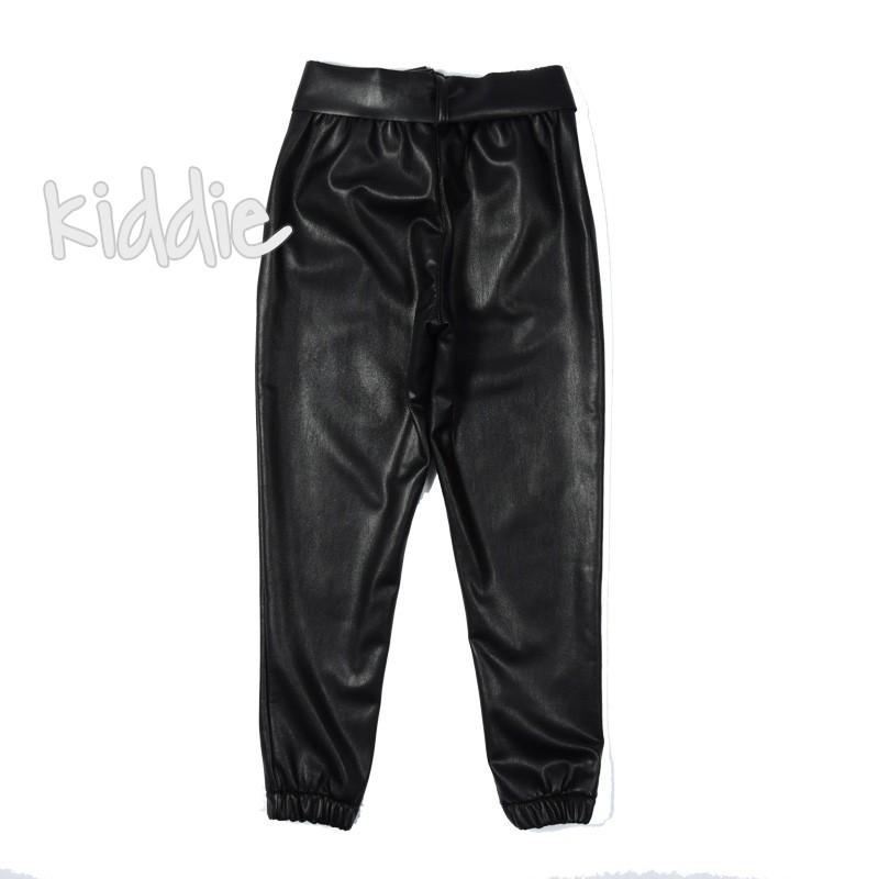 Детски кожен панталон Contast