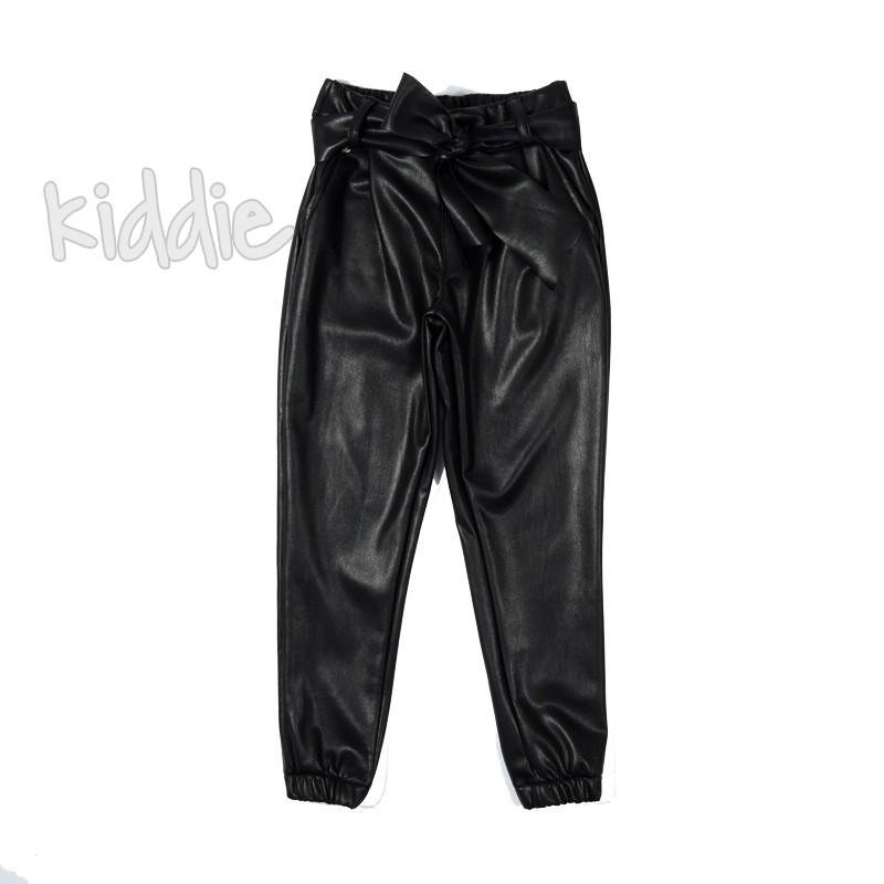 Детски кожен панталон Contrast
