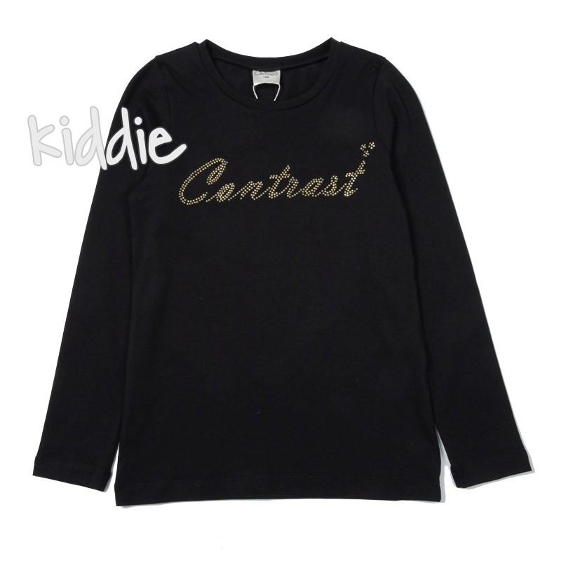 Детска блуза Contrast с лого за момиче