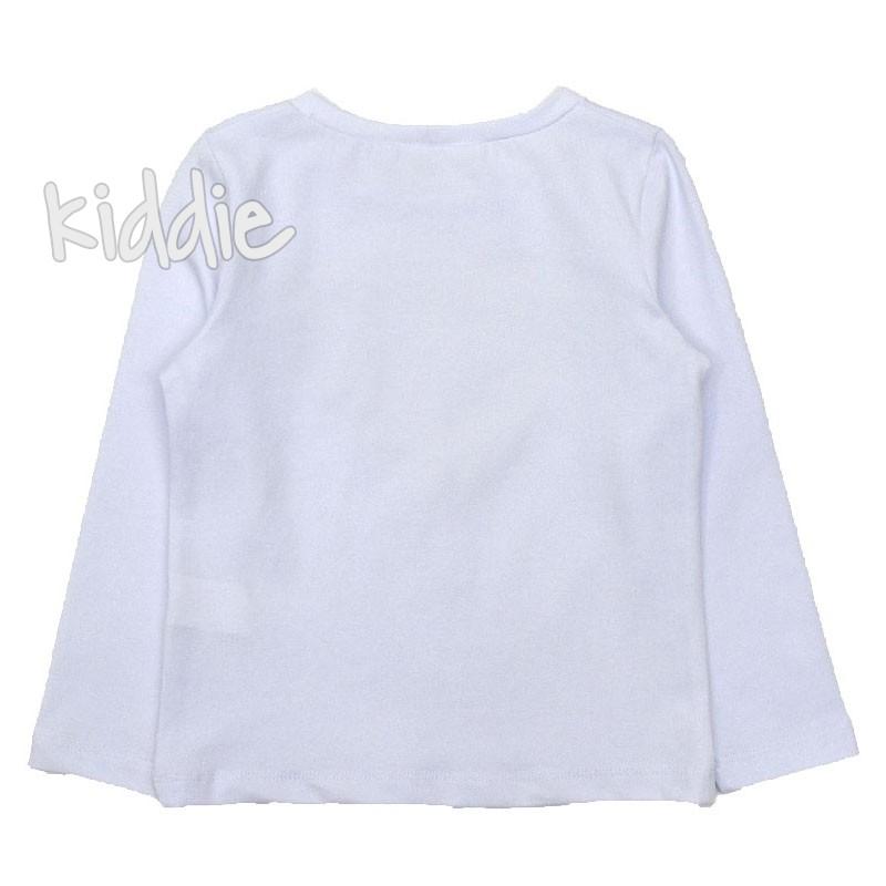 Детска блуза Contrast за момиче със сърце