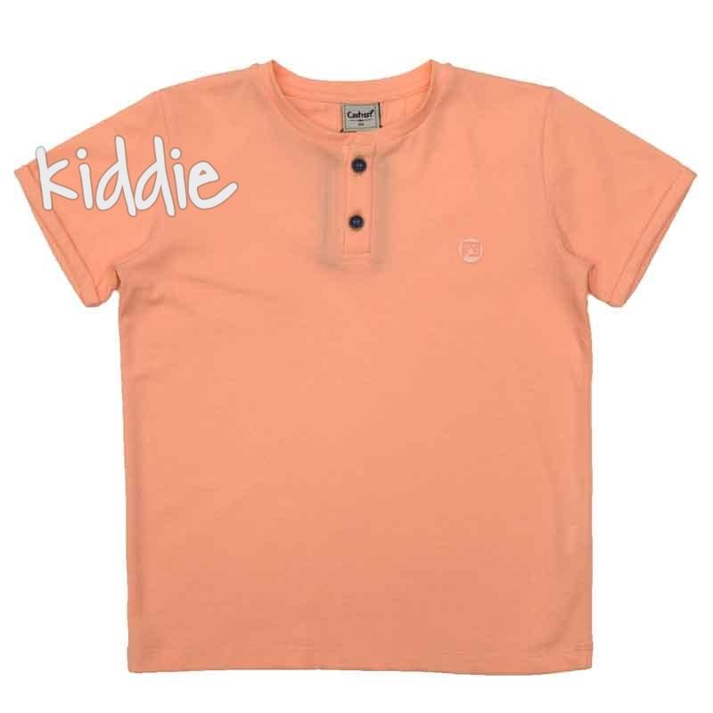 Детска тениска Contrast с копчета за момче