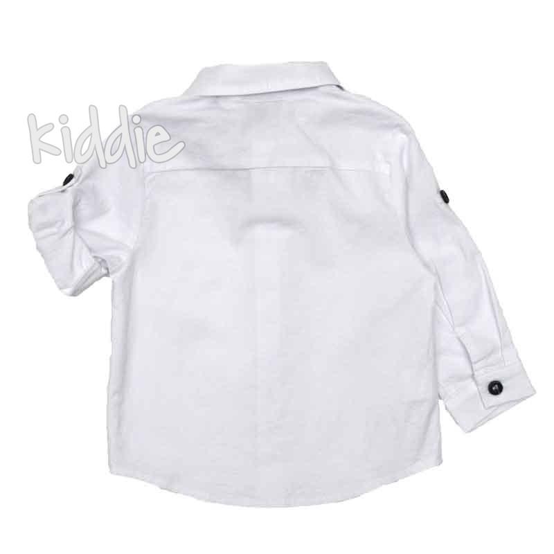 Бебешка риза Contrast с папионка за момче
