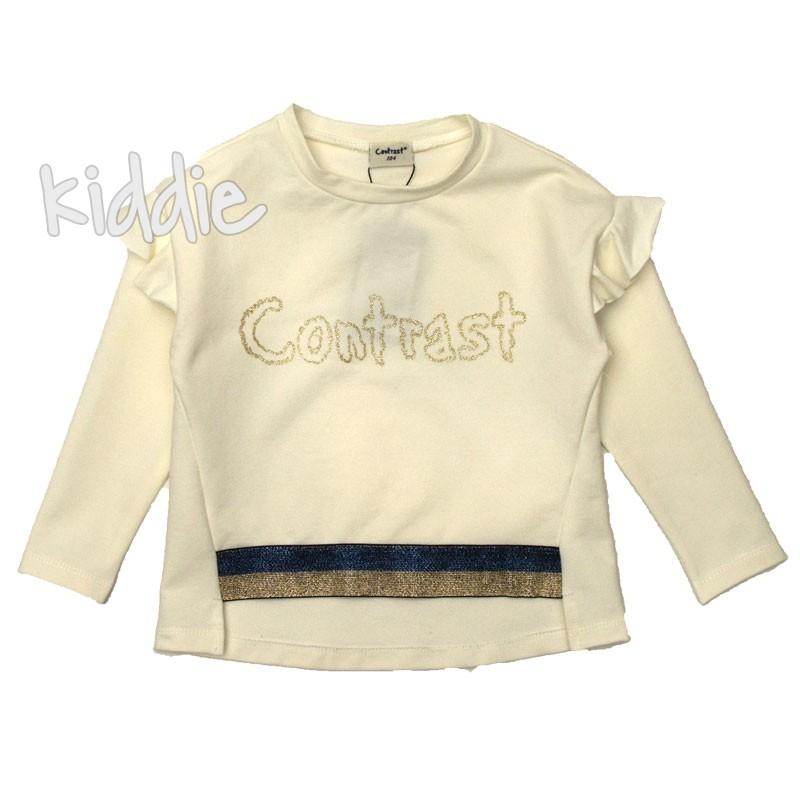 Детска блуза Contrast за момиче