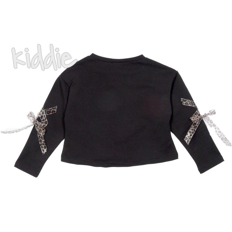 Къса детска блуза за момиче Contrast