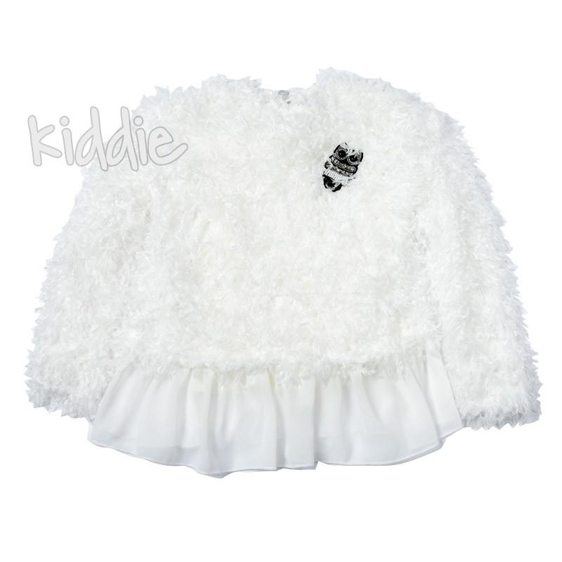 Детска блуза Contrast за момиче с пера