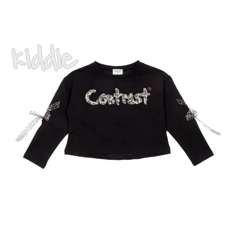 Детска къса блуза за момиче Contrast