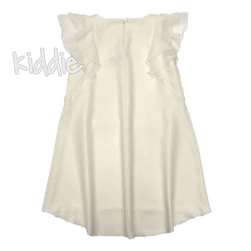 Детска рокля Contrast с къдрички