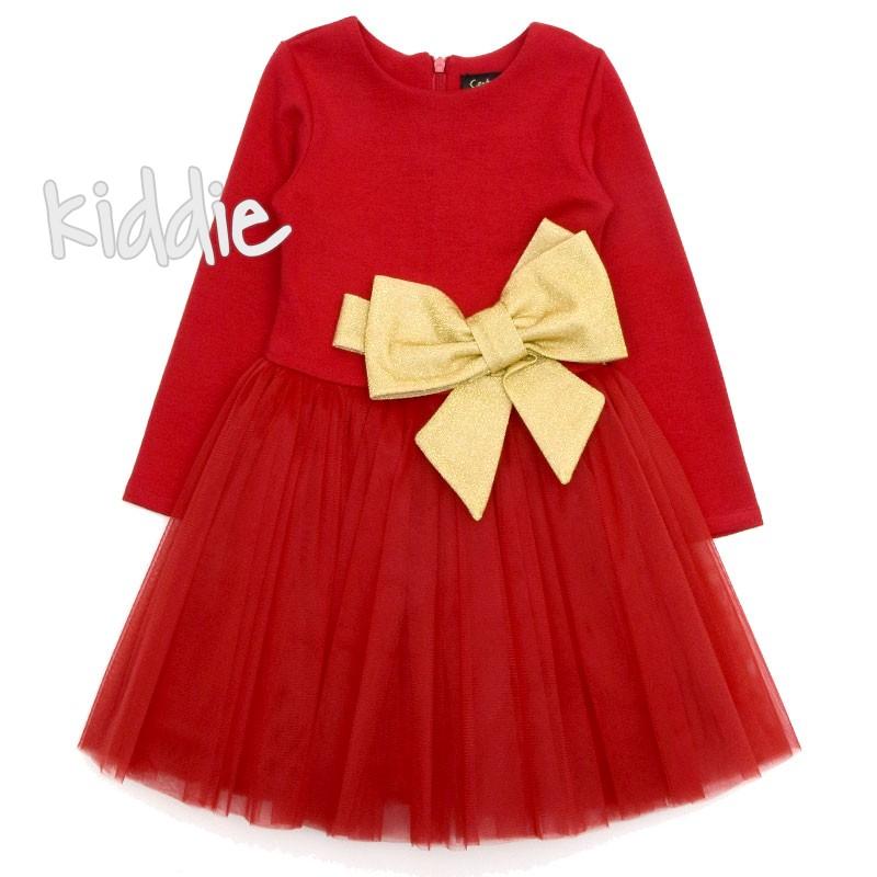 Детска рокля Contrast с голяма панделка