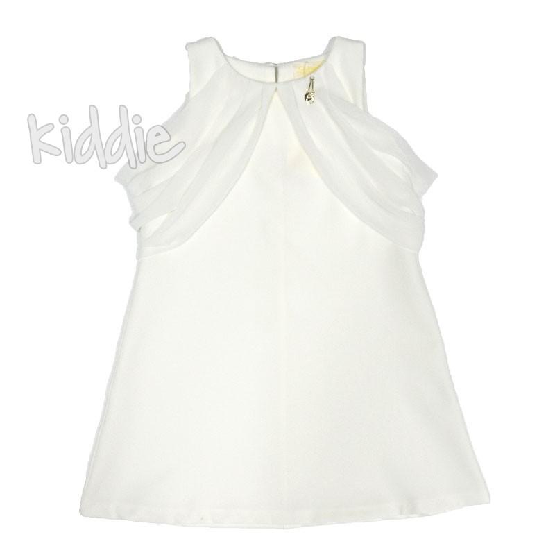 Детска рокля без ръкав Contrast с шифонени воали