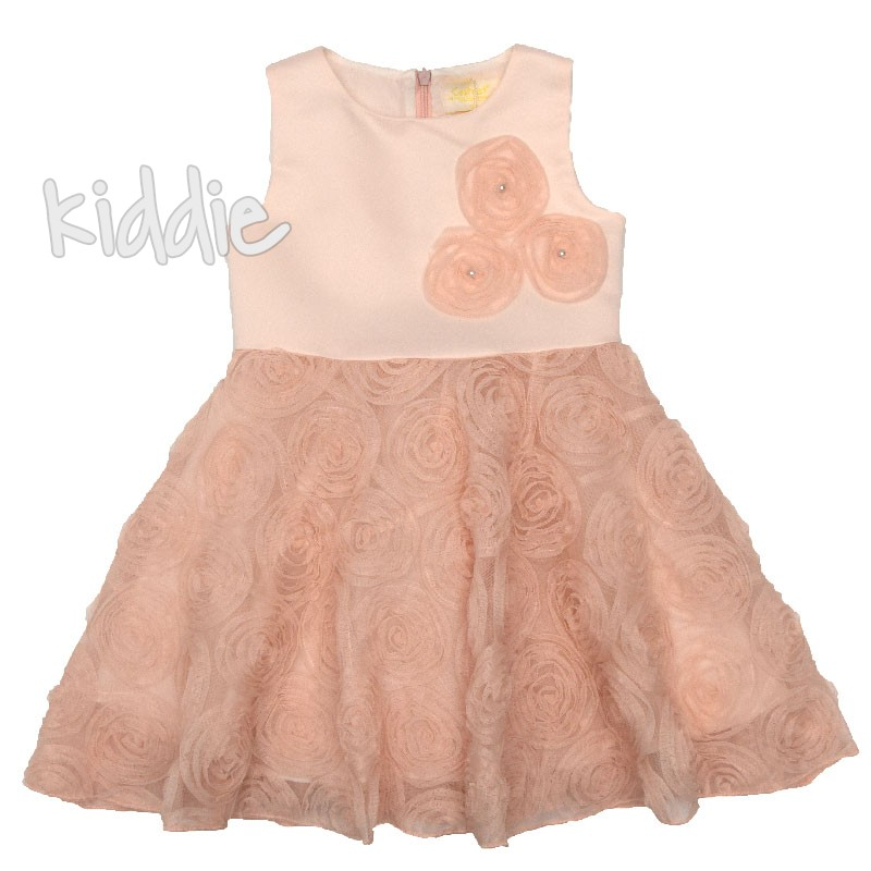 Детска рокля Розови мечти, Contrast