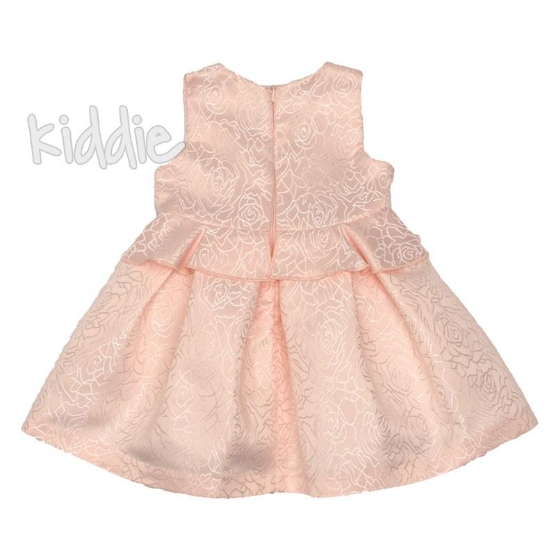 Бебешка рокля Contrast с рози на талията