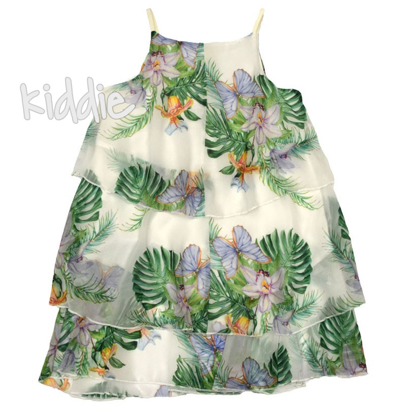 Детска рокля Флора, Contrast с тънка презрамка