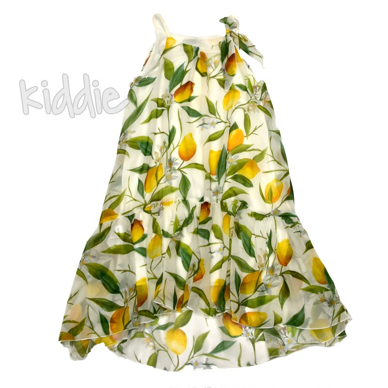 Детска рокля Contrast с панделка на презрамката