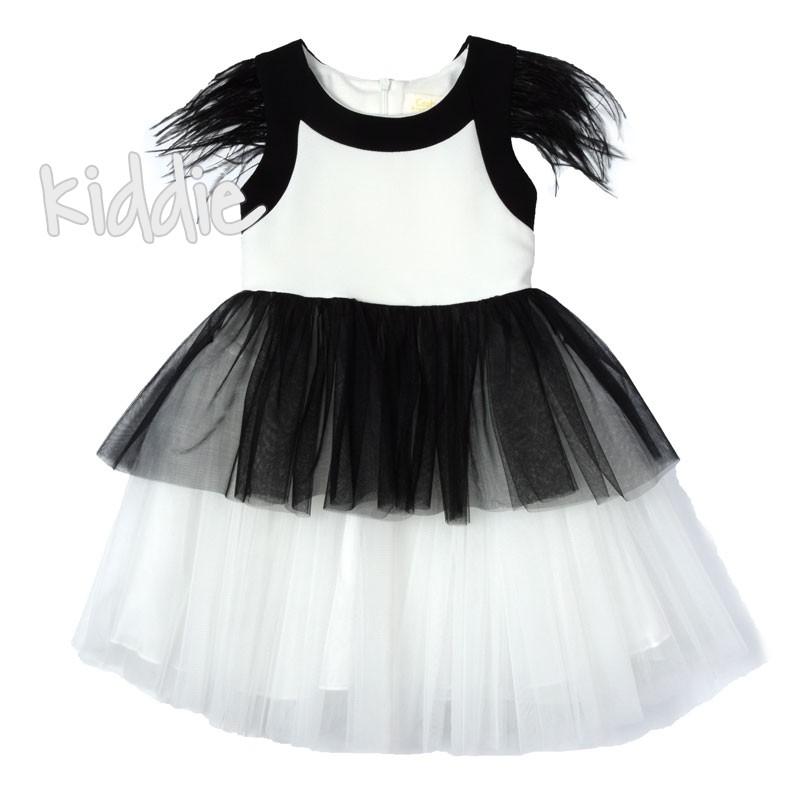 Детска рокля с пера Contrast