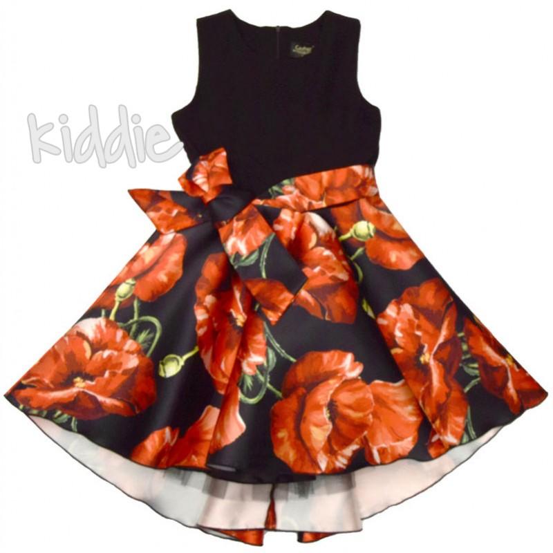 Детска рокля Contrast с флорален принт