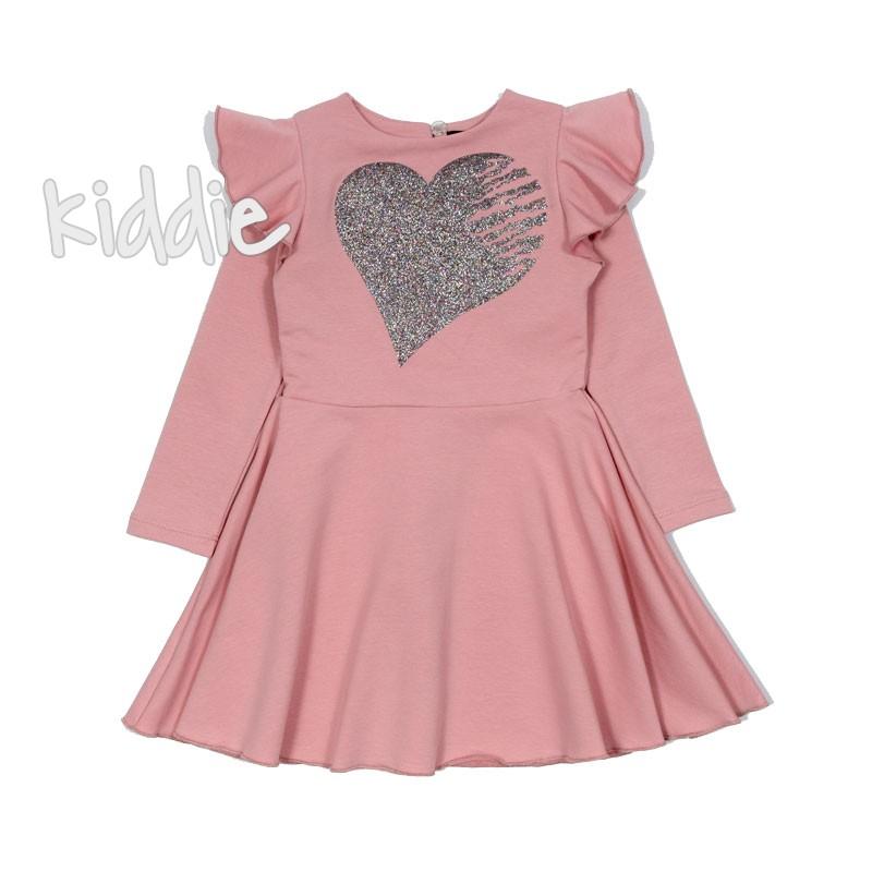 Детска рокля Contrast със сърце